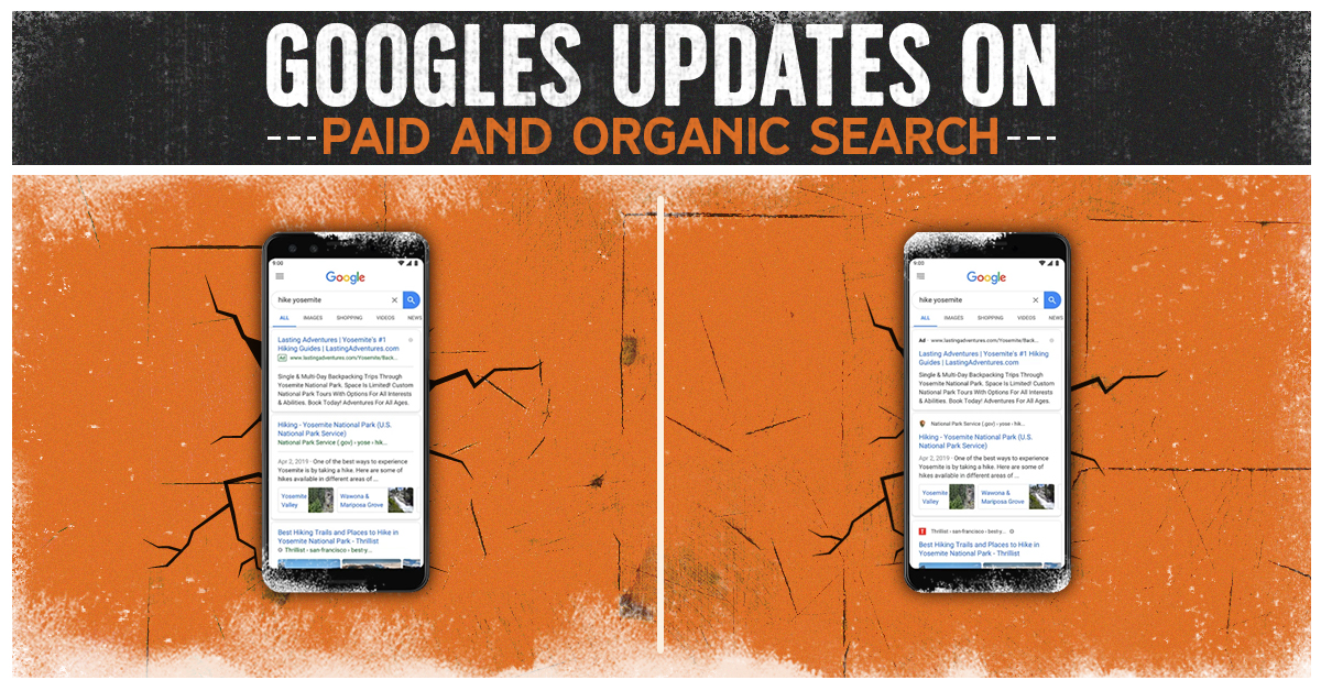 google updates on paid and organic search - clicks and clients